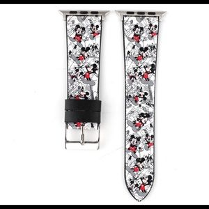 Mickey Mouse Disney Apple Watch band Leather 🆕